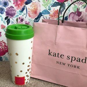 Kate Spade confetti dot thermal mug